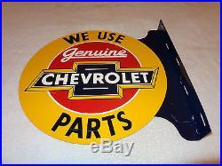 Chevrolet Parts  Flange Metal Sign