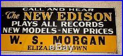 Vintage-thomas Edison-the New Edison Phonograph Photo Sign-store Display-35