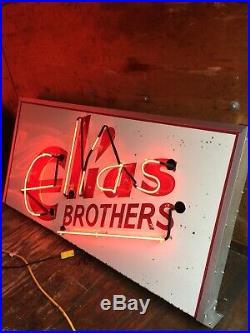 VTG 50s ELIAS BROTHERS BIG BOY RESTAURANT ADVERTISING PORCELAIN NEON SIGN 12' FT