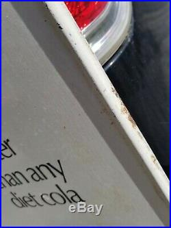 VTG RARE TaB Cola Metal Sign A Coca Cola Product Soda Pop Advertising 33-3/4