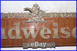 Vintage 1940's Budweiser Beer Bar Tavern 28 Lighted Metal Light SignWorks