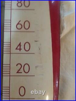 Vintage 1949 Coca Cola Thermometer Cigar Style Metal Sign of Good Taste 30