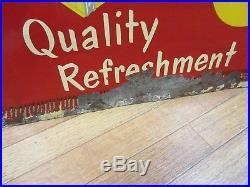 Vintage 1950's Coca Cola Coke 24 Case Authentic Advertising Sign Rare M-942