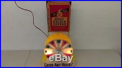 Vintage 1950's Eight O'clock Coffee Lighted Motion Sign Very Neat Unusual HTF