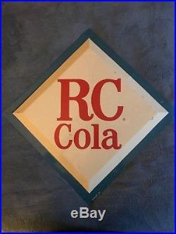 Vintage 1960's RC Royal Crown Cola Soda Pop 24 Bubble Front Metal Sign
