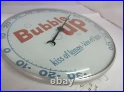 Vintage Advertising Bubble Up Soda Pam Thermometer 1962 Round Store A-101