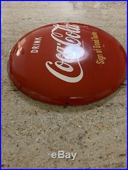 Vintage Am-60 Original 12 Coca-cola Button Sign Of Good Taste