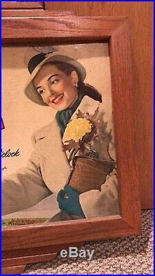 Vintage Antique DR PEPPER CARDBOARD SIGN Football Original Frame Old 1940s