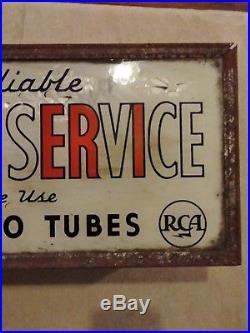 Vintage Antique Light Up RCA Radio Service Display Sign! TV radio advertising