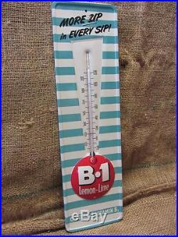 Vintage B1 Lemon Lime Soda Thermometer Sign Antique NO MERCURY 9339