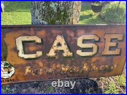 Vintage CASE Farm Machinery Sign 1920-30's Eagle GAS OIL SODA COLA Patina 72x30