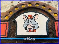 Vintage Chuck E Cheese Pizza Sign Wall Art Man Cave Advertisement Americana