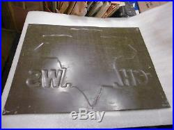 Vintage Clinton Chainsaws Embossed Metal Sign