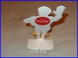 Vintage Coca Cola Cop 12 Metal Business Card Holder Soda Pop Gasoline Oil Sign