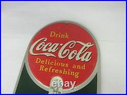 Vintage Coke Coca Cola Girl Soda 1939 Store Thermometer Advertising M-334