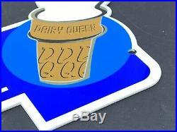 Vintage Dairy Queen Ice Cream Shop Diecut 14 Metal Restaurant Gasoline Oil Sign