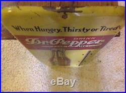 Vintage Dr Pepper Thermometer Sign Antique Soda Pop Cola Beverage ADVERTISING
