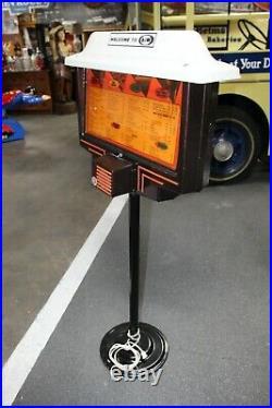 Vintage Drive-In Menu Board Lightup Sign 1960s Car Hop Restaurant A&W Root Beer