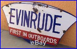 Vintage Evinrude Outboards Boat Dealer Sign. Vintage Outboard Engine Sign. 37