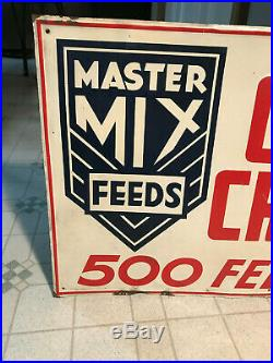 Vintage Farm Sign Vintage Feed MILL Sign Master MIX Cattle Crossing Sign Rare
