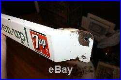 Vintage Fresh Up with 7up Seven Up Porcelain Door Push Bar Sign Great Condition