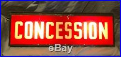 Vintage Fun Lighted Concessions Sign