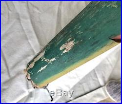 Vintage Hand Carved Wood Fish Lure Fishing Trade Sign Folk Art 25 Advertising