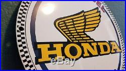 Vintage Honda Porcelain Gas Auto Dealer Motorcycle Service Station Sales Sign
