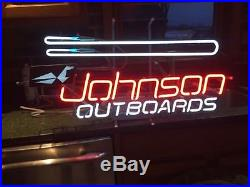 Vintage Johnsons outboard motor neon sign working stored since new