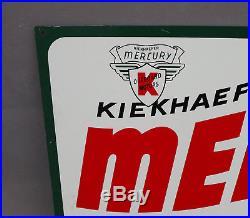 Vintage MERCURY OUTBOARD Harley Davidson Motorcycle Dealer Sign boat motor