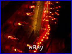 Vintage Marquee light Art EAT Arrow Flame lights HUGE 4 ft x 2 ft