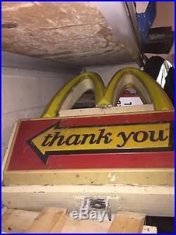 Vintage McDonald's Drive Thru Sign Lights Up