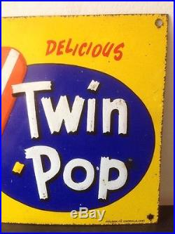 Vintage Metal Tin HOWDY DOODY TWIN POP POPSICLE TIN ADVERTISING SIGN Ice Cream