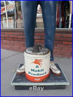 Vintage Motorized Gas Station Attendant. Attention getter
