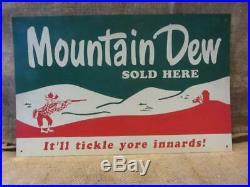 Vintage Mountain Dew Sign Ya-hoo Antique Old Pepsi-Cola Soda Rare 10018