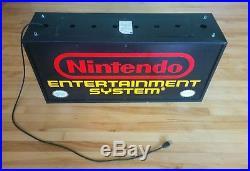 Vintage NES Nintendo Entertainment System Fiber Optic Sign