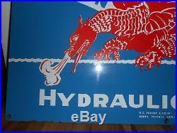 Vintage ORIGINAL PORCELAIN Ellicott Hydraulic Dredges DRAGON Advertising SIGN
