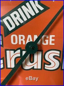 Vintage Orange Crush Advertising Thermometer Sign 12 Glass