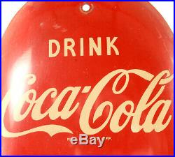 Vintage Original 1950s Coca Cola Soda Pop Cigar Thermometer Sign Advertising