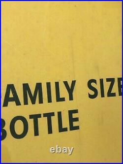 Vintage, Original, 1955, Coca Cola, Sprite Boy, 36 x 20, Cardboard Sign, EX