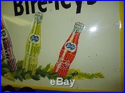 Vintage/Original BIRELEY'S Soda Metal Embossed SignDated 1948Not PorcelainWOW