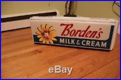 Vintage Original Bordens Elsie Cow Ice Cream 25 Lighted Sign Dairy Advertising