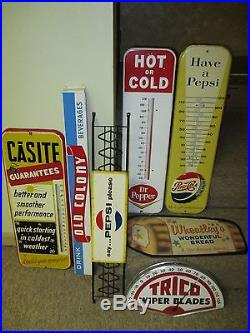 Vintage/Original DR. PEPPER Metal Thermometer Sign40sGood For LifeVERY COOL