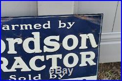 Vintage Original FORDSON TRACTORS TIN FARM SIGN CROWELL TX Tin Tacker