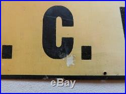 Vintage Original Finck's Overall Tin Tacker Sign Embossed Nice