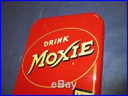 Vintage/Original MOXIE Thermometer Metal Soda Sign VERY NICE! Dated 1952LQQK