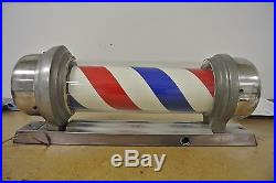 Vintage Original Marvy Barber Shop Electric Barber Pole No Reserve