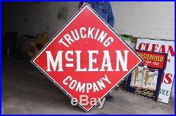 Vintage Original McLean Trucking Company Advertising Sign Painted Nice