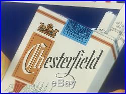 Vintage Original Metal Sign Chesterfield Cigarette Sign Big Clean Taste, Old Nice