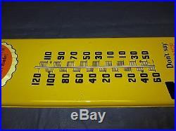 Vintage/Original NESBITT'S Orange Soda Metal Thermometer SignWORKS/LOOKS GREAT